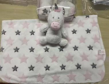 Одеяло 90/75 cm с играчка Rarity