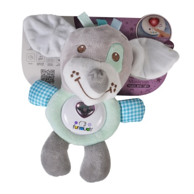 Мека светеща играчка зелен куче FM888_4D