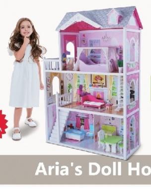 Дървена Къща за кукли Aria 4107