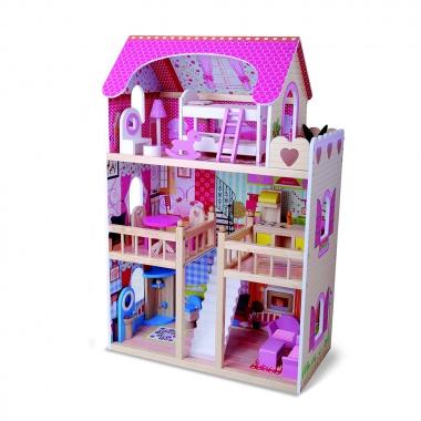Дървена Къща за кукли Emily 4109