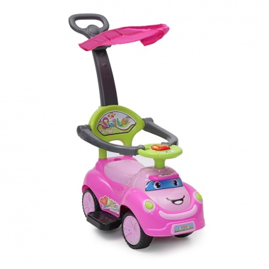 Кола с дръжка SMILE розов Q06-4
