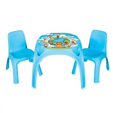 Маса с два стола King син 03422