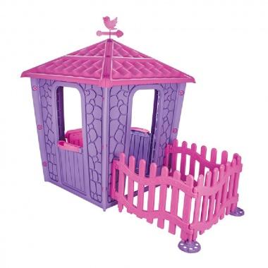 Каменна къща с ограда розов 06443