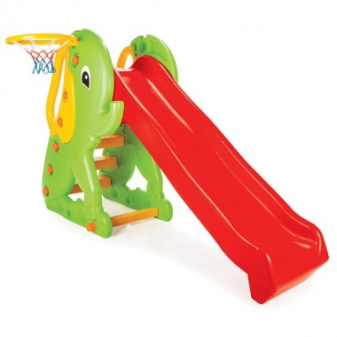 Пързалка 155 cm Слонче с баскетболен кош 06160