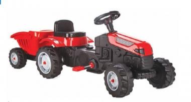 Трактор Active с ремарке червен 07316