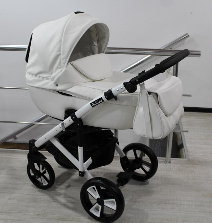 Бебешка количка 3в1 Gusio S-line Eco бял