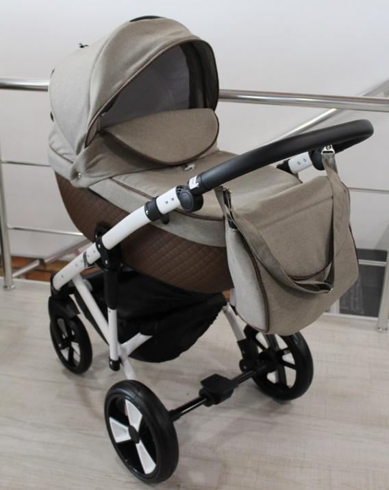 Бебешка количка 3в1 Gusio S-line Eco капучино