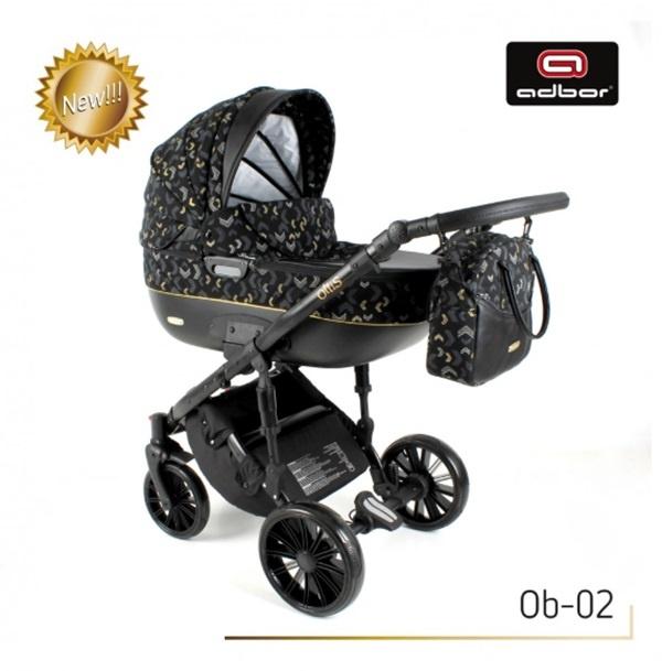 Adbor Бебешка количка Zarra black 3в1 ob-2