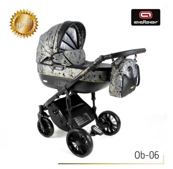Adbor Бебешка количка Zarra black 3в1 ob-6