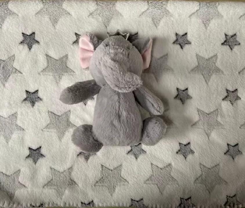 Одеяло 90/75 cm с играчка Little Elephant