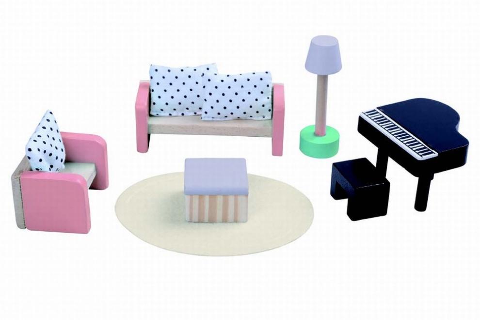 Дървени мебели всекидневна 4011