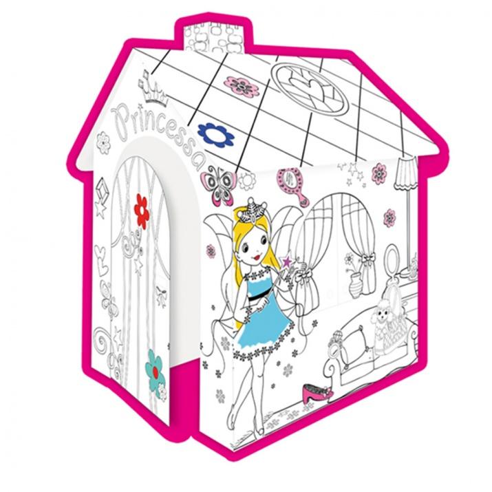 Картонена къща за оцветяване Princess 11122