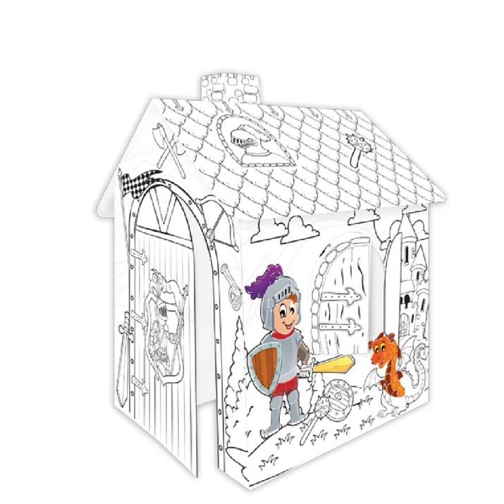 Картонена къща за оцветяване Рицар 11123