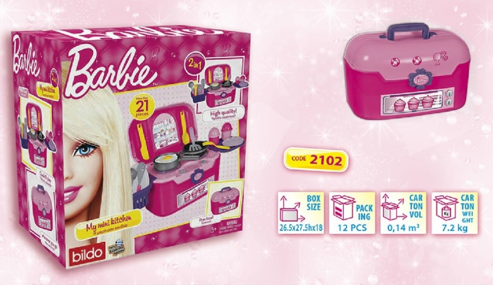 Кухня в куфар Barbie 2102