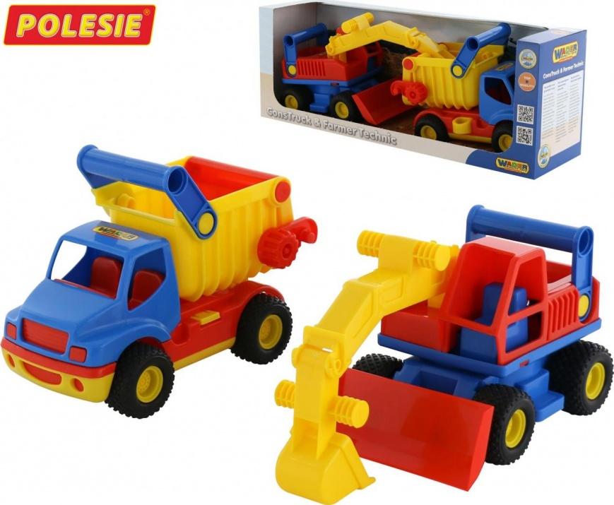 Камион + багер 40855