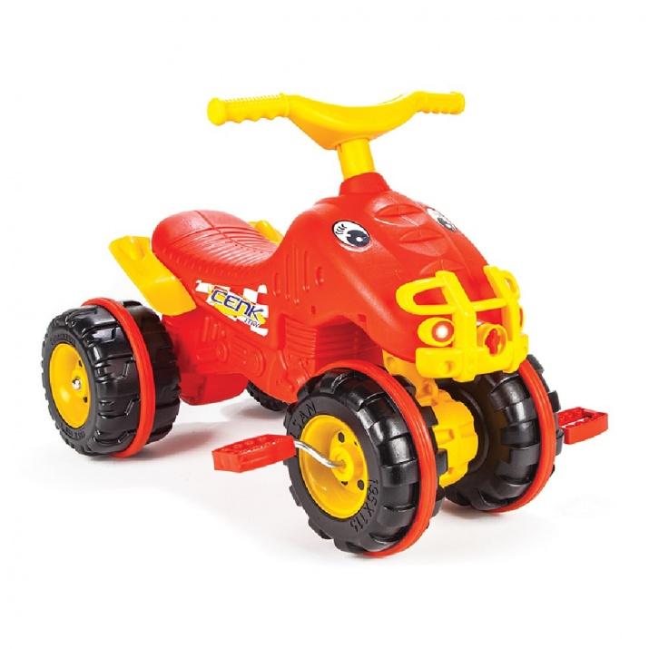 Кола с педали ATV Cenk червен 07810