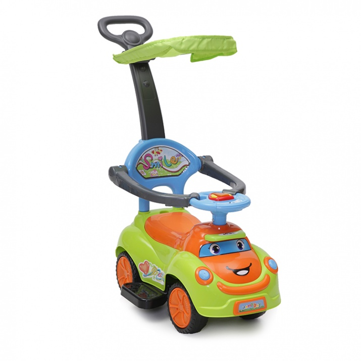 Кола с дръжка SMILE зелен Q06-4