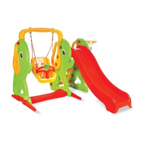 Пързалка с люлка 155 cm Слонче 06161