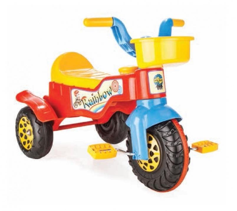Мотор с педали Rainbow червен 07116