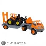 Камион с багер (гумени колела) 10171
