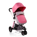 Комбинирана количка Sarah  сив/розов
