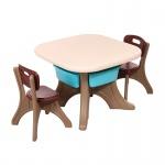 Маса с два стола Comfort кафяв 18109