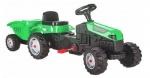 Трактор Active с ремарке зелен 07316