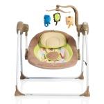 Електрическа люлка Baby swing+ капучино