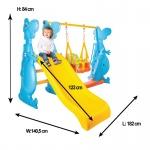 Пързалка с люлка 123 cm Dino 06099