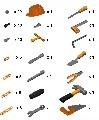 Инструменти в плик (74 части) 53718